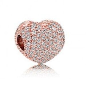 NWT AUTHENTIC PANDORA ROSE OPEN MY HEART CLIP